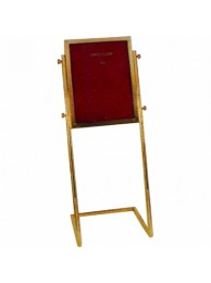 "Display Stand Slanted Brass 18""x24""x54"""