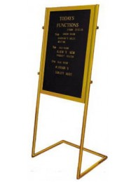 "Display Stand Slanted Brass 24""x36""x60"""