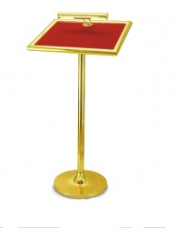 "Podium Brass - Single  Pole 43"" x 16"" x 20"" Top"
