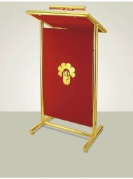 "Podium Brass - Double Pole 43"" x 16"" x 20"" Top"