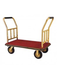 "Platform Trolley with two Side Sport Brass 24"" x 36"" x 24"""