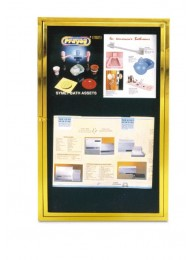 Front Opening Notice Board Brass  Per Sq. Feet