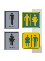 "Toilet Signs Ladies/Gents/combined 5"" x 7"""
