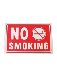 No Smoking Plates Plastic Large