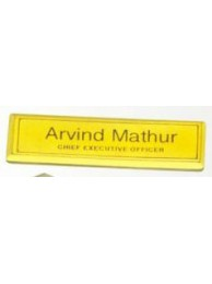 Name Badges Brass Regular
