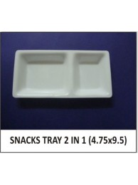 "Acrylic Snack Tray 2 in 1 (4.75""X 9.5"")"